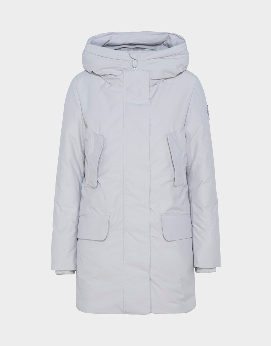 830f869cc3d5 Womens COPY Winter Hooded Parka in Frozen Grey