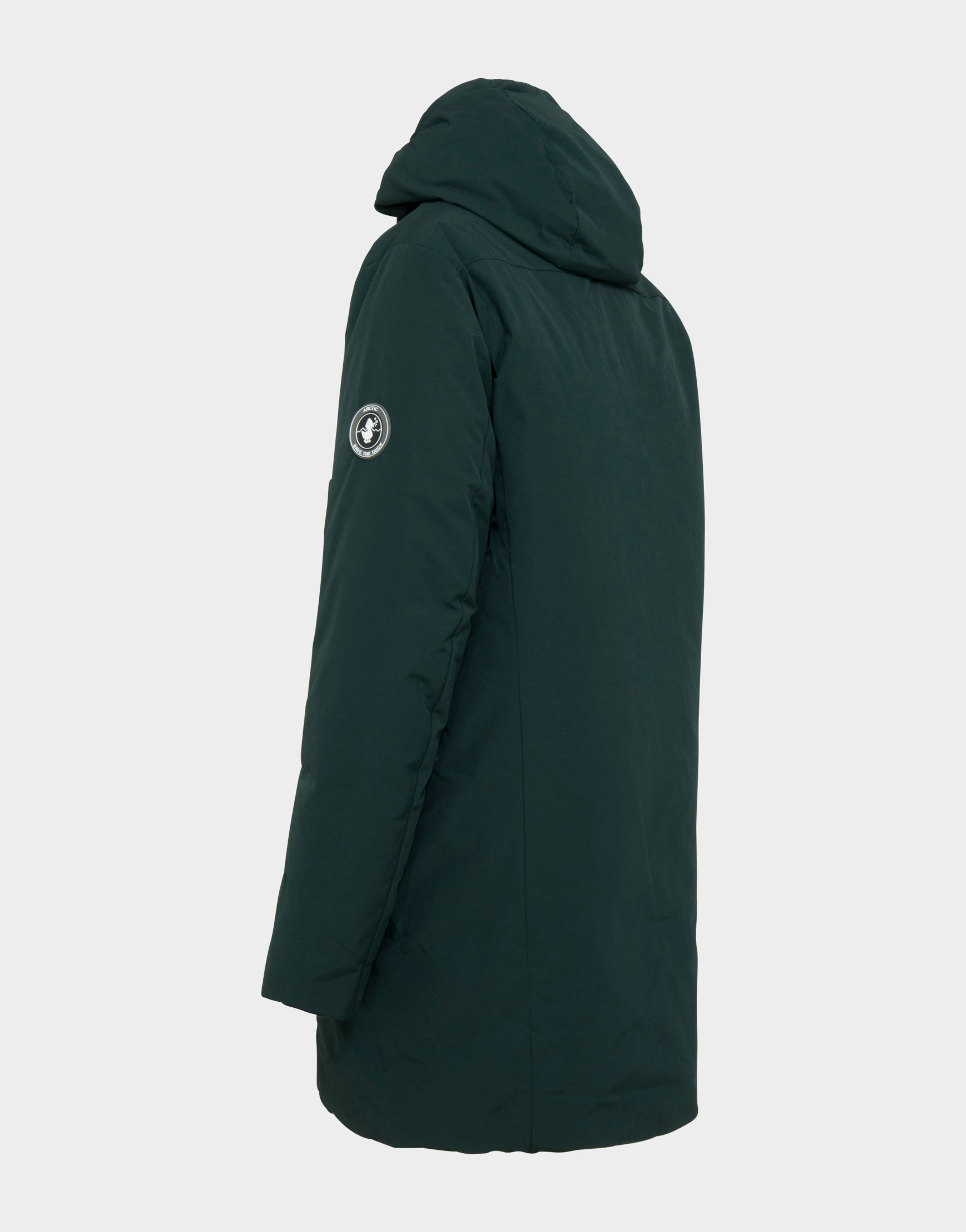 b0dacc61e9f Mens COPY Winter Hooded Parka in Green Black