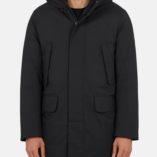 Mens Long Parka in SMEG with Adjustable Hood