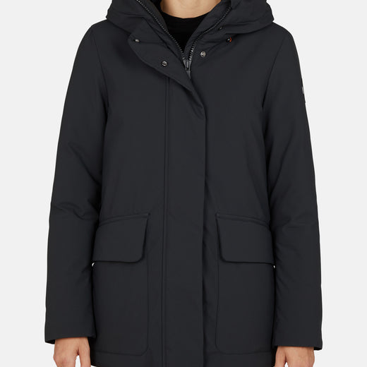 Womens Hooded Winter Parka in SMEG