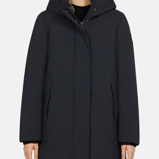 Womens Hooded Winter Coat in SMEG