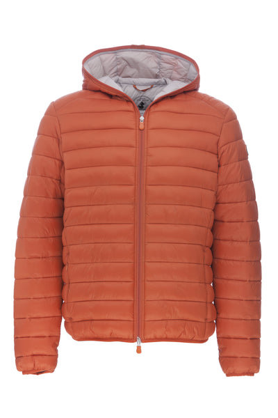 Men's Hooded Jacket in Pumpkin Orange