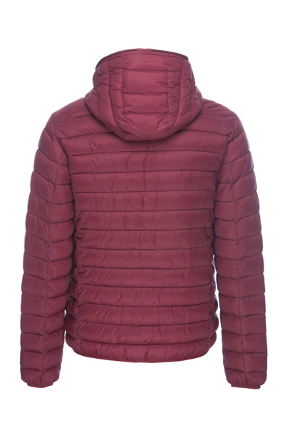 Men's Puffer Jacket in Burgundy