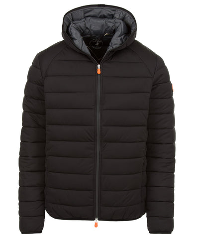 Mens Puffer Stretch Jacket in Black