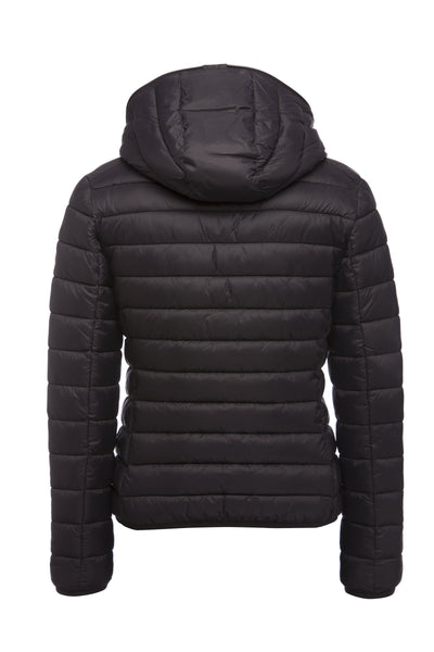 Women's GIGA Hooded Puffer Jacket in Black