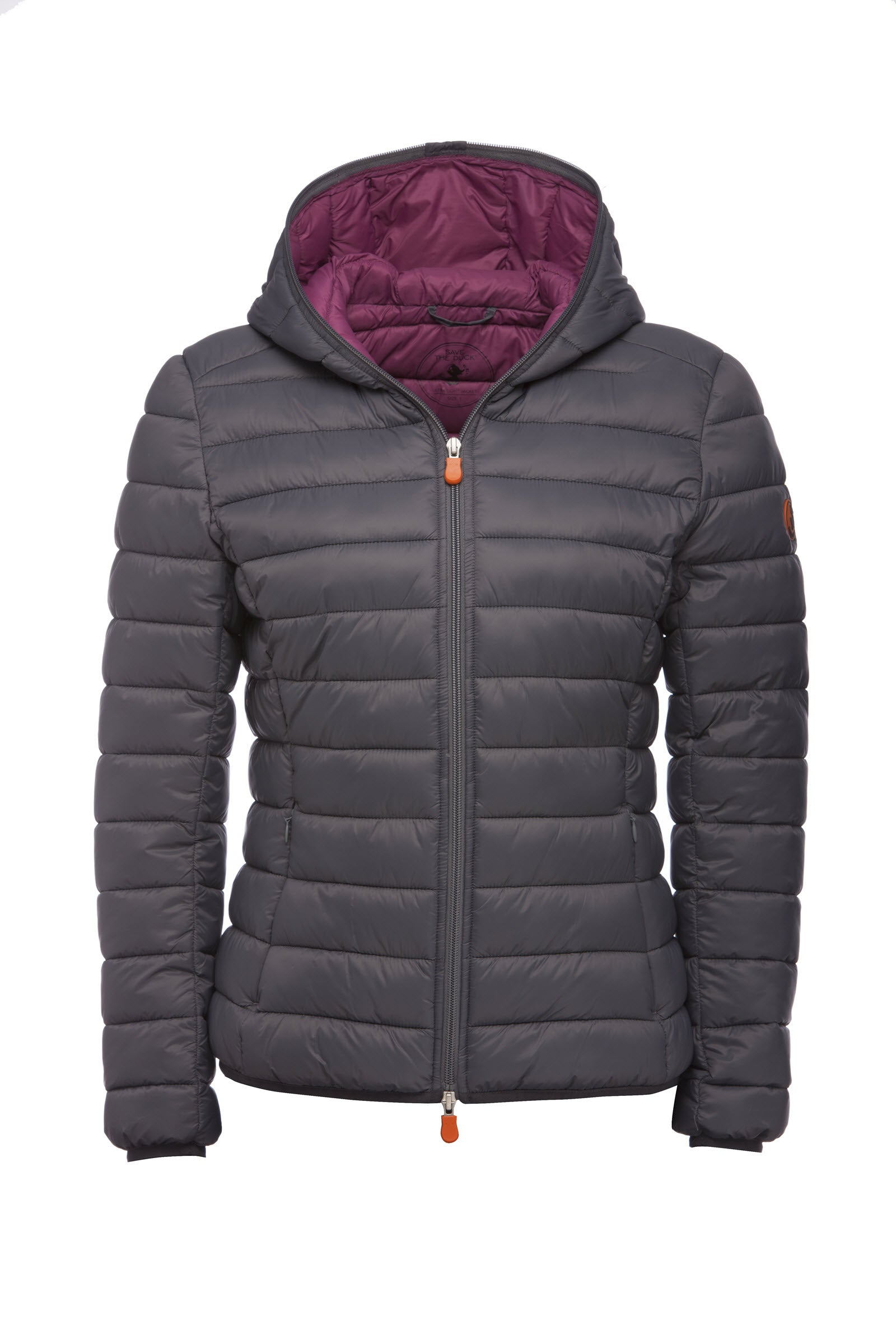 e43433e55e67 Save The Duck Women s Jacket in Charcoal Grey - Save the Duck