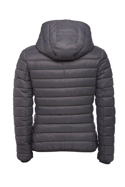 Women's GIGA Hooded Puffer Jacket in Charcoal Grey