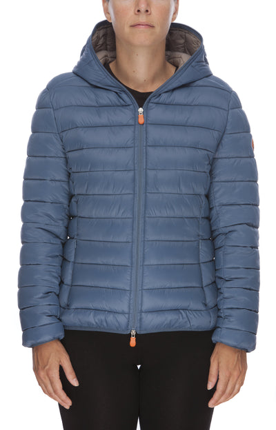 Women's GIGA Hooded Puffer Jacket in Space Blue