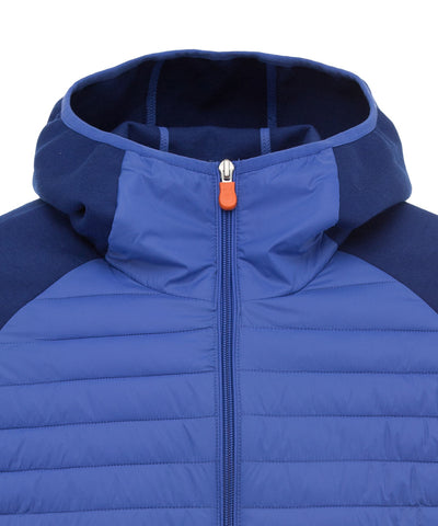 Men's Hoodied Jacket in Sapphyre Blue