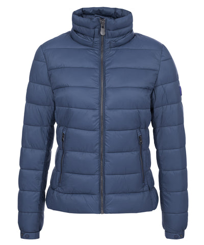 Women's Hooded Puffer Jacket in Navy Blue