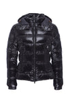 Women's Sleek Puffer Jacket in Black
