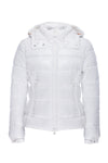 Women's Sleek Puffer Jacket in Off White