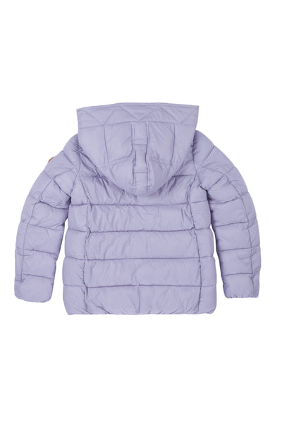 Girl's Hooded Puffer Jacket in Lilac