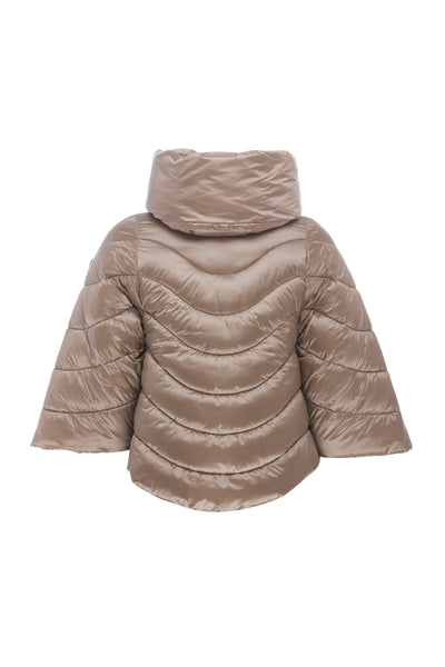 Women's Hooded Jacket in Macaroon Beige