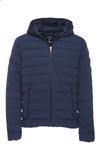 Men's Stretch Puffer Jacket in Navy Blue Melange