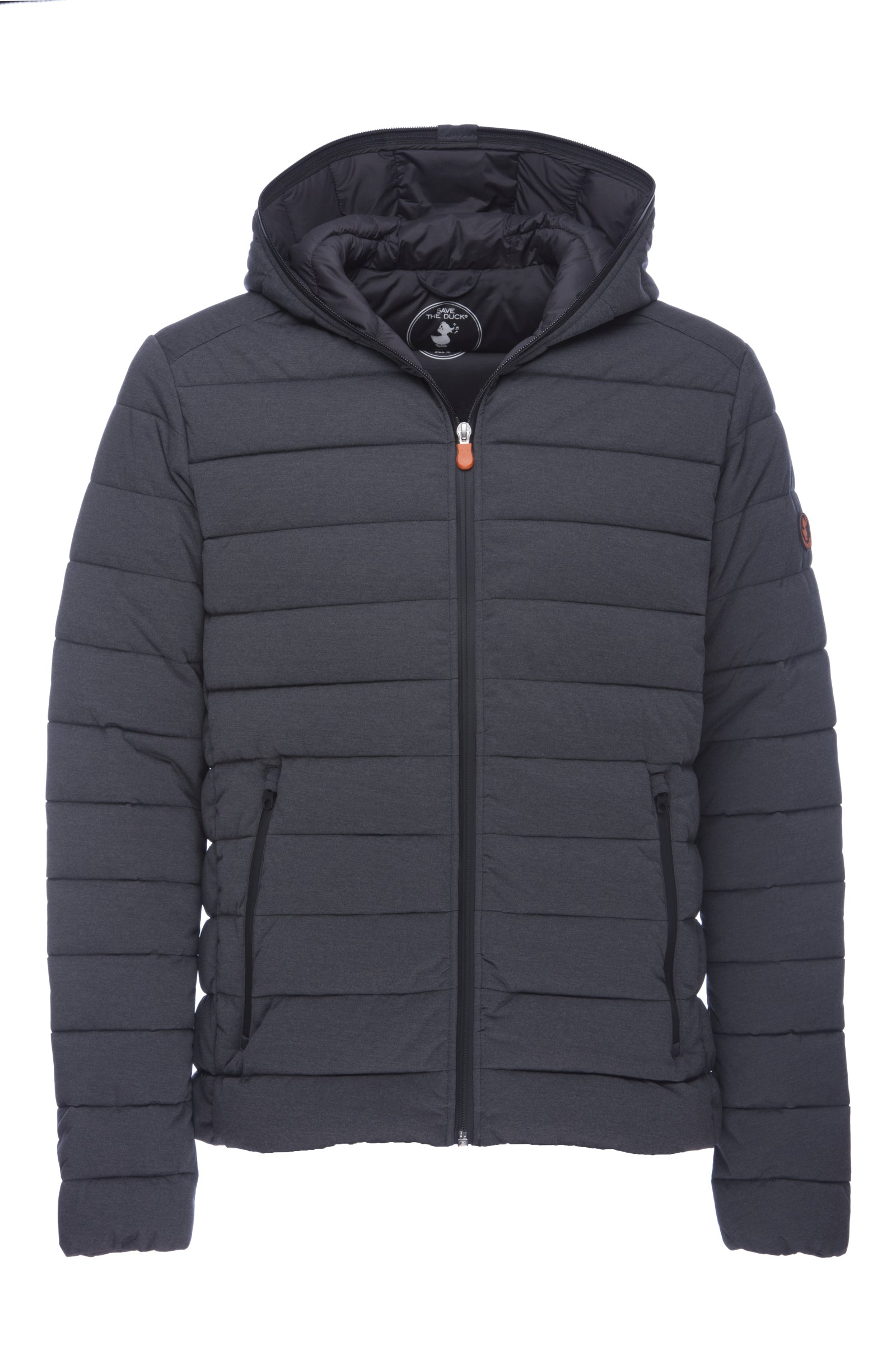 ed09e3e478a Save The Duck Men s Hooded Jacket in Charcoal Grey Melange - Save the Duck