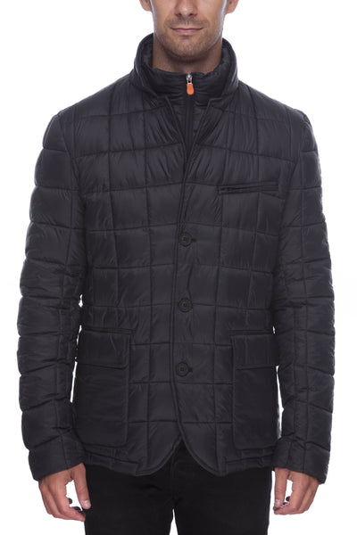 Men's Quilted Blazer in Black