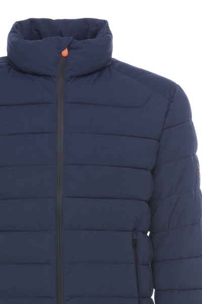 Mens ANGY Jacket in Navy Blue Melange