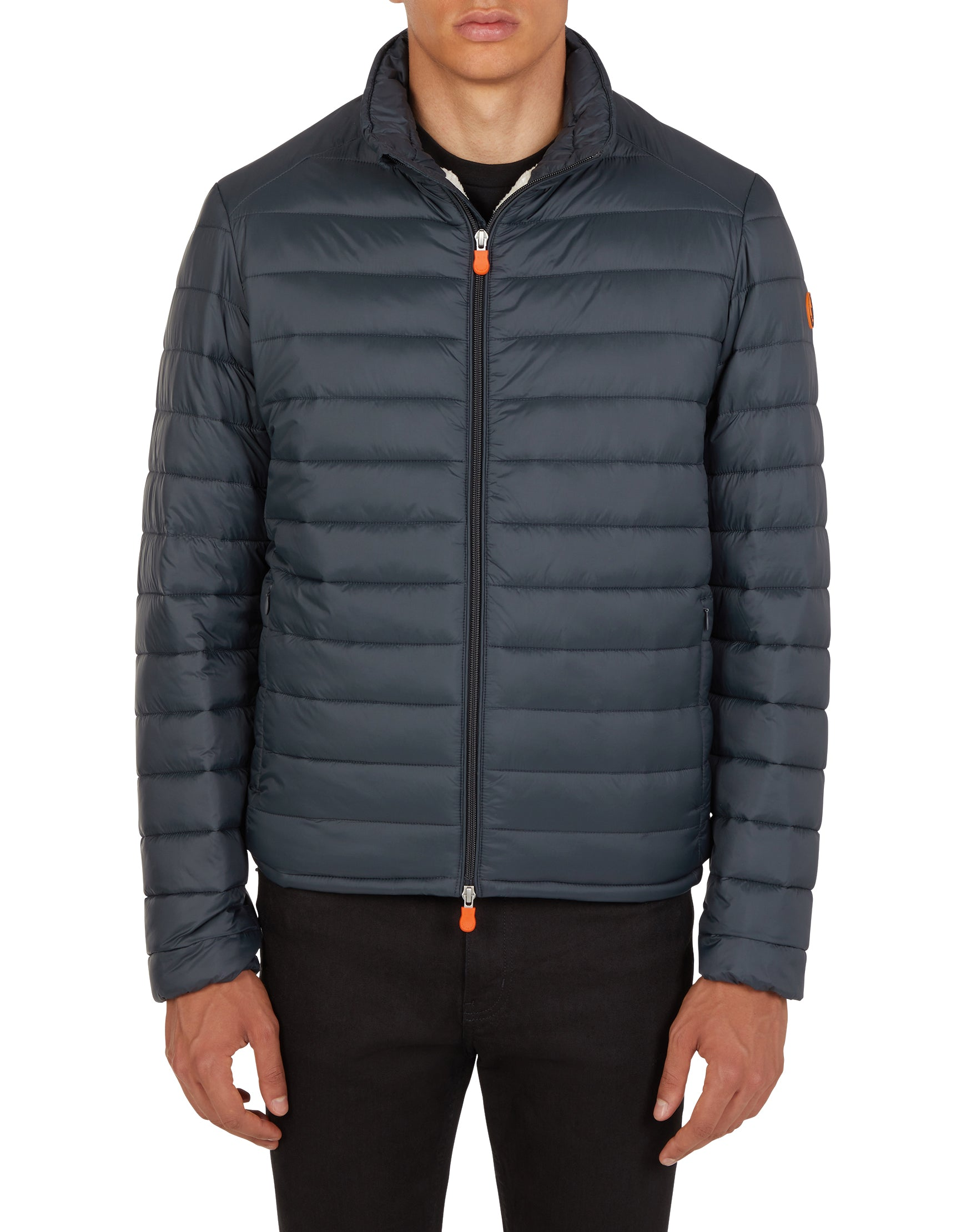Save The Duck Men's GIGA Puffer Jacket with Faux Sherpa Lining