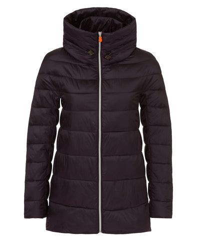 Women's Iridescent Parka in Blue Black