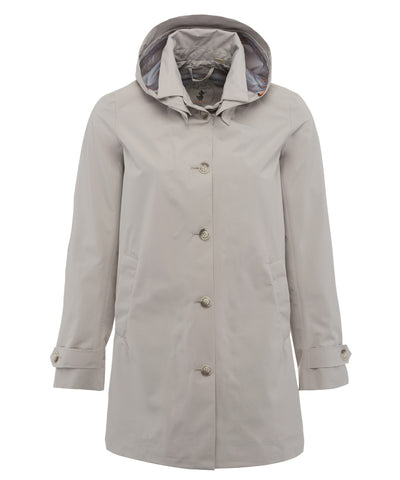 The TECH Hooded Raincoat in Sand Beige