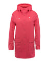 Women's Hoodied Coat in Paradise Red