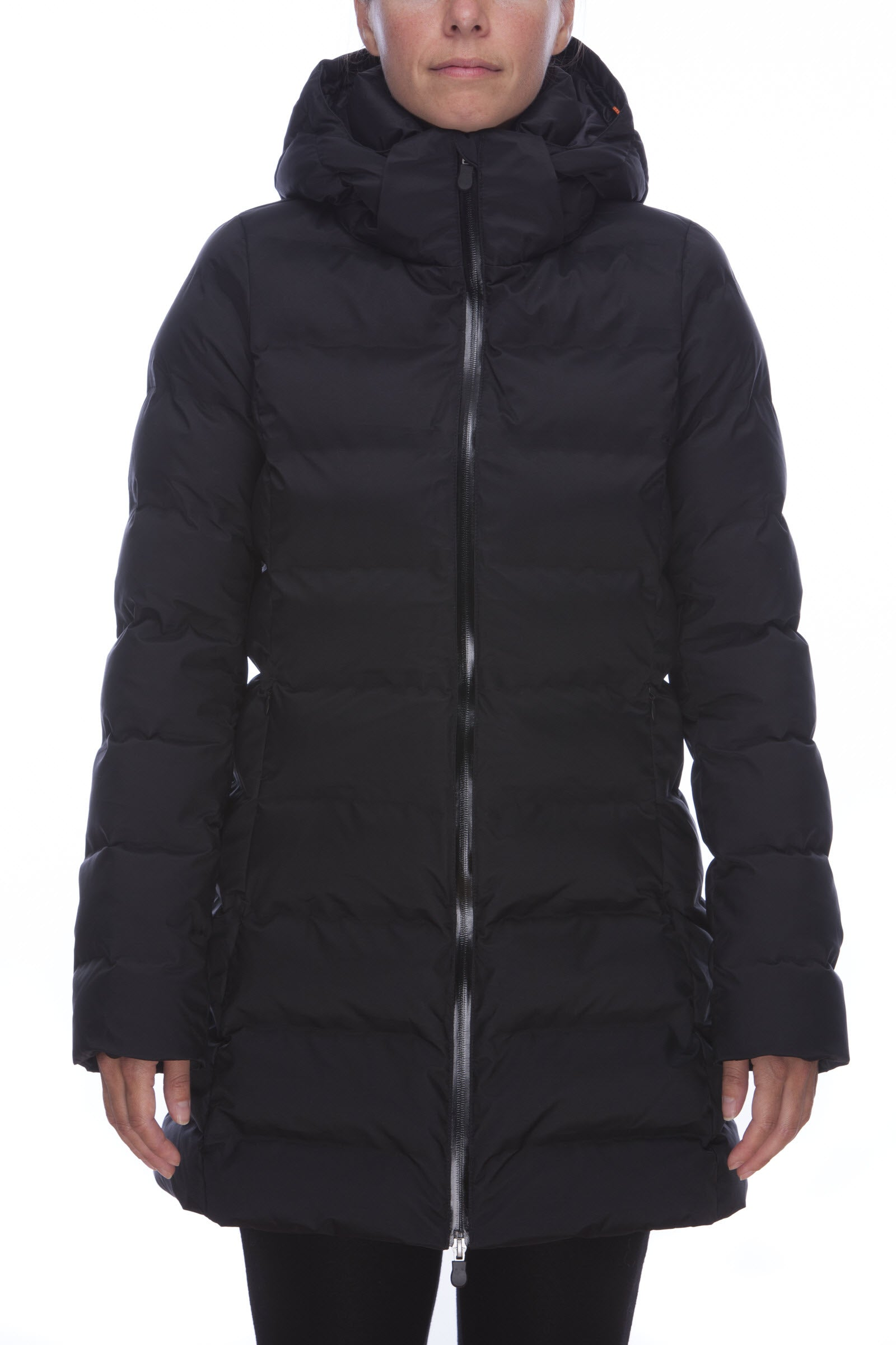 b34c1d90d66f9 Save The Duck Women s Coat in Black - Save the Duck