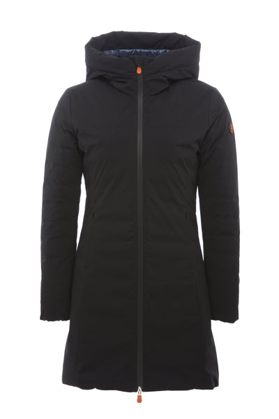 Women's Coat in Noir Black