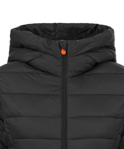 Women's Puffer Long Coat in Black
