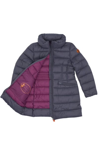 Girl's Puffer Coat in Charcoal Grey