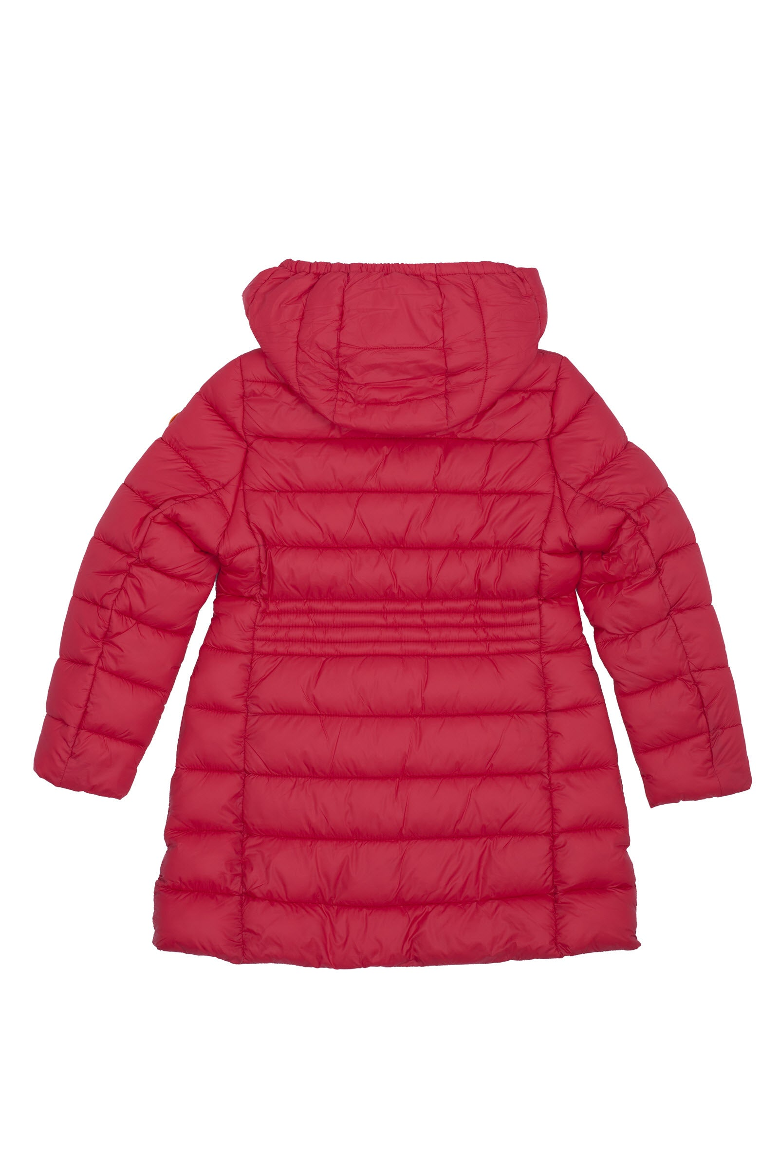Girl's Puffer Coat in Cranberry Red