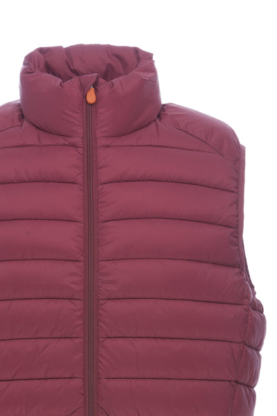 Men's Vest in Burgundy