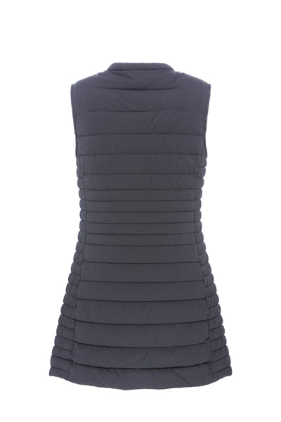 Women's ANGY Stretch Sleeveless Coat in Grey Melange