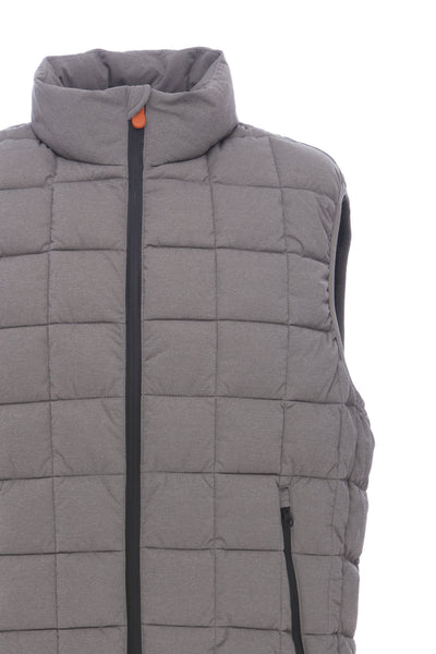 Mens Vest in Fossil Brown Melange