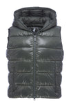 Women's Sleek Hooded Vest in Deep Green
