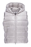Women's Sleek Hooded Vest in Silver Grey