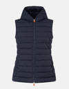 Save The Duck Womens Hooded Vest in ANGY