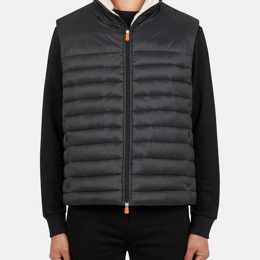 Mens Vest in GIGA with Faux Sherpa Lining