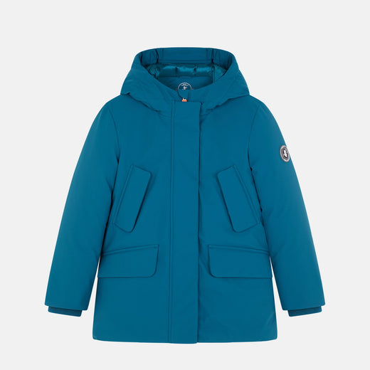 Girls Hooded Winter Parka in SMEG