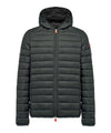 Men's Lightweight Puffer Hooded Jacket in Dark Green