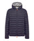 Men's Lightweight Puffer Hooded Jacket in Navy Blue