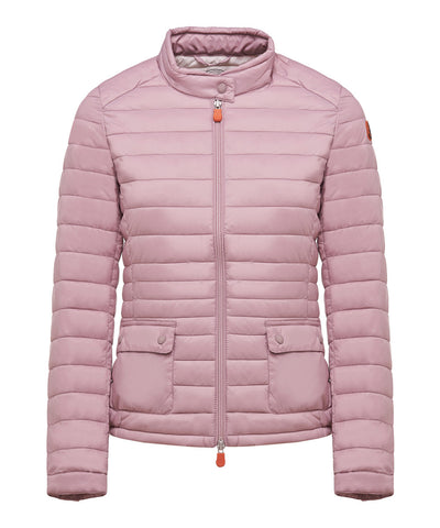 Women's Motorcycle Jacket in Misty Rose