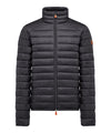 Men's Lightweight Puffer Jacket in Blue Black