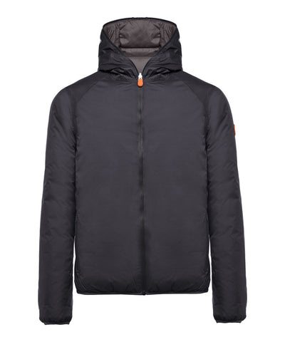Men's Reversible Hoodied Jacket in Eclipse Blue
