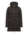 Women's Long Puffer Winter Coat In Black