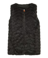 Women's FURY Reversible Faux Fur Sleeveless Jacket in Black