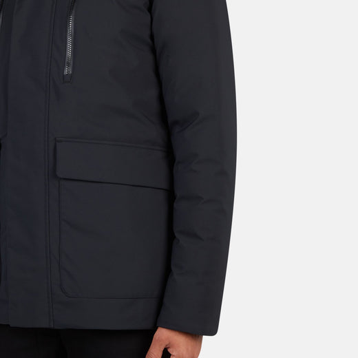 Mens Hooded Winter Coat in SMEG