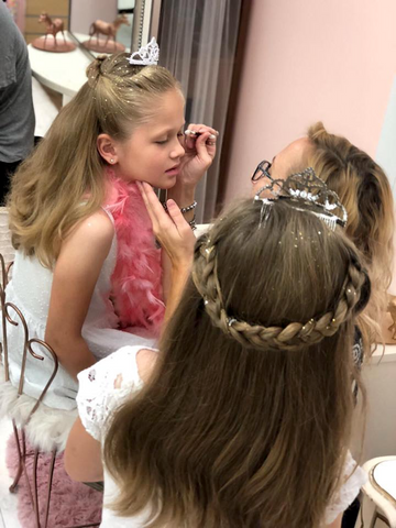 Princess Party Makeover for Little Girls at Pin Ups Spa and Boutique Biloxi