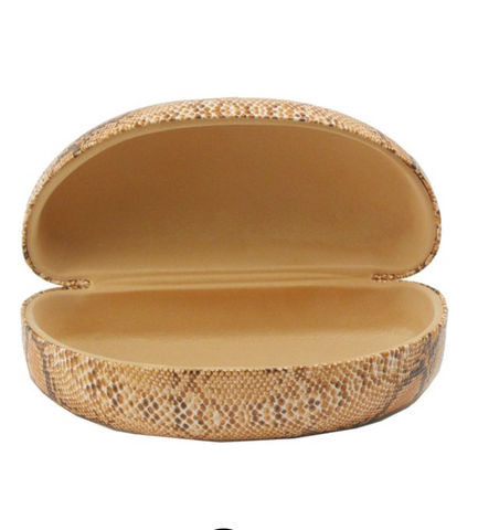 Extra Large Sunglass Case in Snakeskin