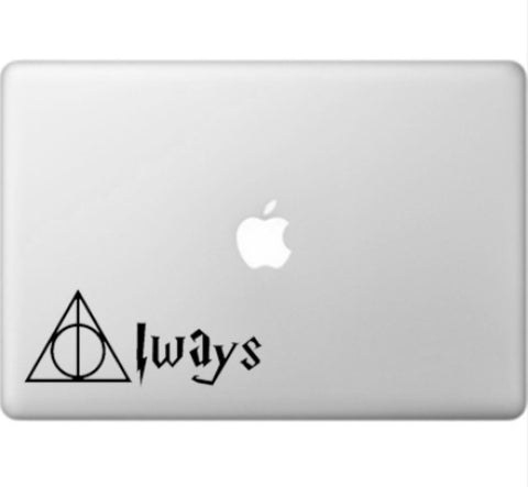 "Harry Potter Inspired Deathly Hallows ""Always"" decal"